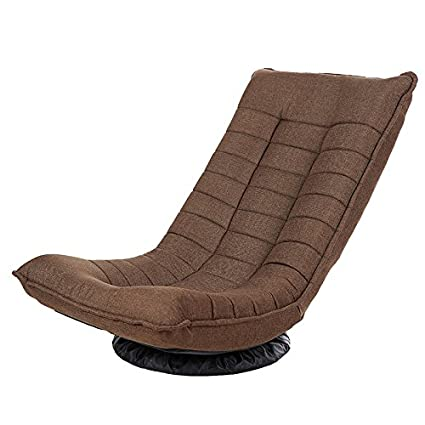Do4U 360 Degree Swivel Folded Video Game Chair  Adjustable Angle Chair   Floor Lazy Man