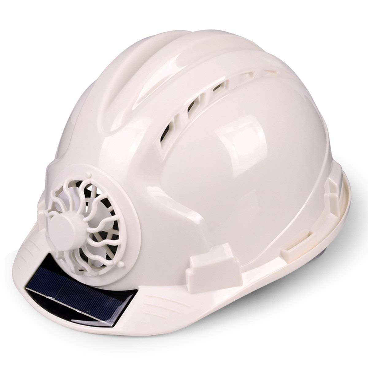 Adjustable Construction Helmet With 'Solar Fan' Vents-Meets ANSI Standards-Personal Protective Equipment, for Construction,Home Improvement And DIY Projects/PP (Color : White)