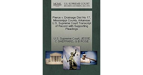 Pierce V  Drainage Dist No 17, Mississippi County, Arkansas