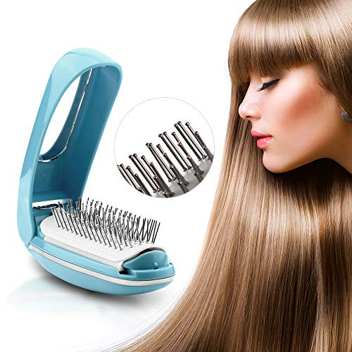 TOUCHBeauty Detangling Hair Brush Foldable Magic Hair Styling Comb for Women Vibration Scalp Massagers Hair Detangler Brush Anti-static built-in Mirror, Perfect Hair Scalp Treatments AS-1178 from TOUCHBeauty