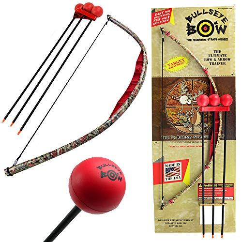 Kids Bow and Arrow Set Beginner Archery Toy Bullseye Bow Red Camo Training - Bow Bullseye