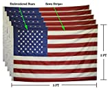 U.S. Flag 3X5 ft – Embroidered Stars – SET OF 5 FLAGS