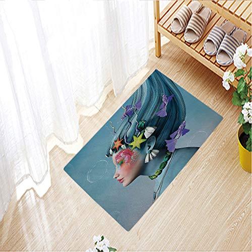 Camping Door Mat,Entrance Outdoor/Indoor Floor Doormat Door Non Slip Mats Bathroom Kitchen Decor Mat,15.7