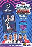 2018/2019 Topps Match Attax Champions League Soccer Starter Box with 39 Cards Including EXCLUSIVE Super Squad Limited Edition RONALDO Juventus Card & 2 Goalkeeper Cards! PLUS Game Mat & Rules! WOWZZER