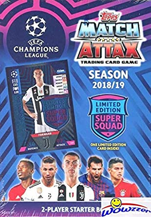 0ae463fd6 2018 2019 Topps Match Attax Champions League Soccer Starter Box with 45  Cards Including EXCLUSIVE