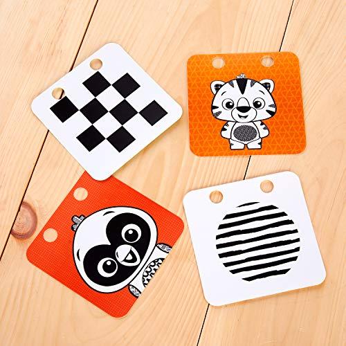51uZaTQ4dwL - Baby Einstein Flip for Art High Contrast Floor Activity Mirror with Take Along Cards, Newborn+