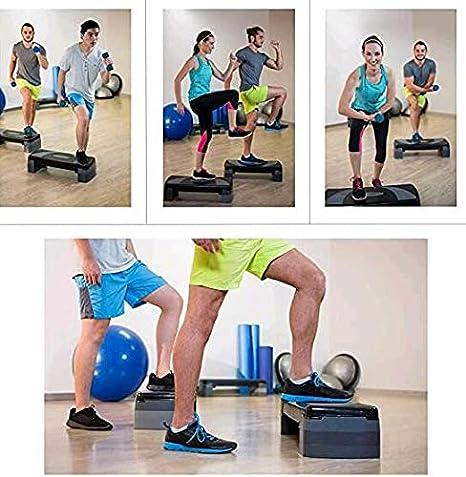 LHY Kitchen Aerobic Stepper Fitness Steps Niveau de Hauteur r/églable Cardio Exercices Steppers pour Home Gym Workout Routines Training