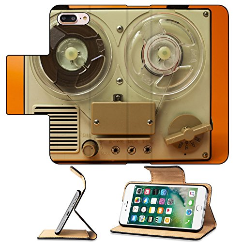 MSD Premium Apple iPhone 7 Plus Flip Pu Leather Wallet Case a small vintage reel to reel tape recorder IMAGE 21317358