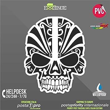 Erreinge Sticker Kontur Aufkleber 20cm Schädel Skull Bike Scooter