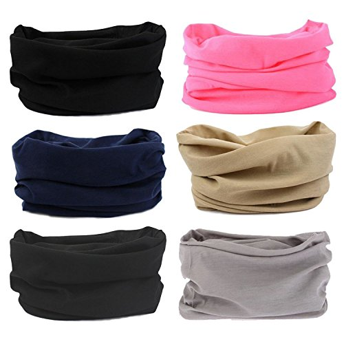 Oureamod Wide Headbands for Men and Women Athletic Moisture Wicking Headwear for Sports,Workout,Yoga Multi Function -