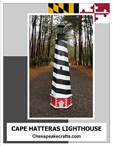 6 ft. Cape Hatteras Lawn Lighthouse Woodworking Plans. DIY Instruction guide includes photos at every step.