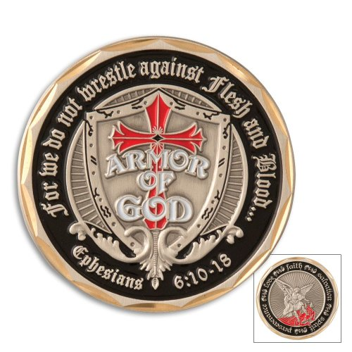 Armor of God Shield St. Michael Challenge Coin (Eagle Crest 2521)