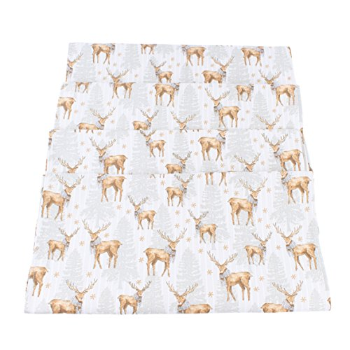 Animal Milly (Milly Green Winter Forest Stag Deer Buck Design Table Runner)