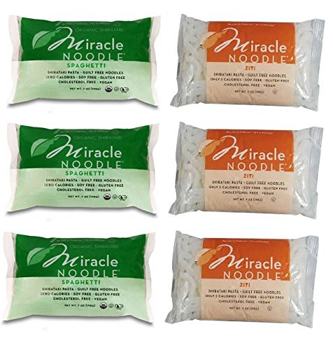 Miracle Noodle Ziti and Spaghetti [6 Pack] by Miracle Noodle