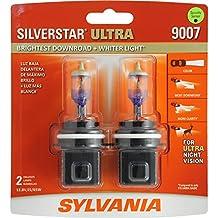 SYLVANIA 9007 SilverStar Ultra High Performance Halogen Headlight Bulb, (Pack of 2)