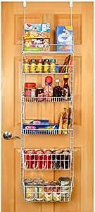 PRO-MART DAZZ Deluxe Over The Door Adjustable Pantry Organizer Rack, 6 Shelves, Large