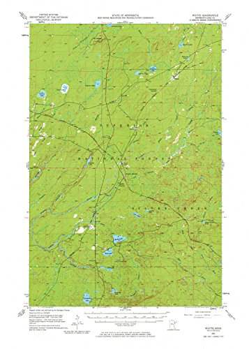 YellowMaps Whyte MN topo map, 1:62500 Scale, 15 X 15 Minute, Historical, 1953, Updated 1976, 27.23 x 21.53 in - Polypropylene