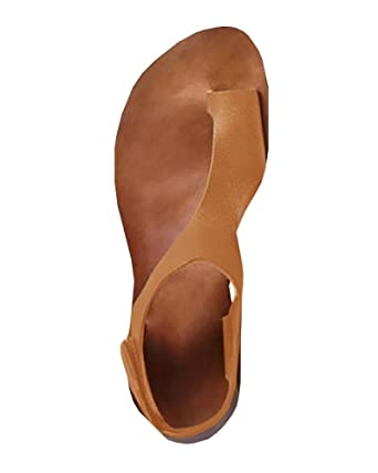 Leather Toe Loop Sandals Meilidress Womens By Casual Flat sdBChrxtQ