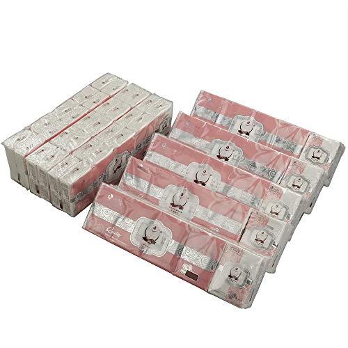(Lesbin 2-Ply White Facial Tissues Pocket Packs, Pack for 80)