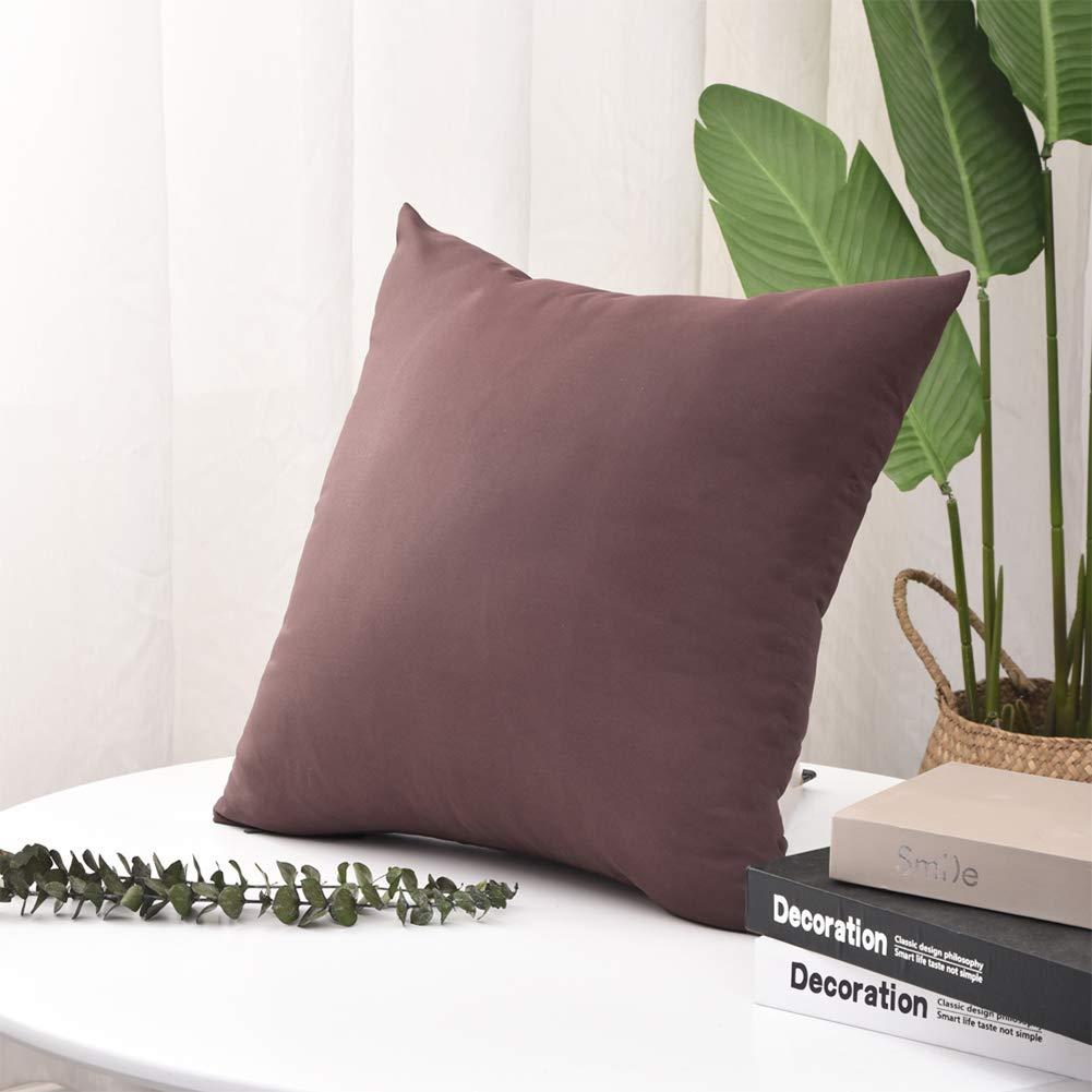 Prato 2 Pezzi Federa per Cuscino da Esterni 50 x 50 cm Divano in Rattan Blue Pannow Impermeabile Decorativa Patio Divano per Giardino