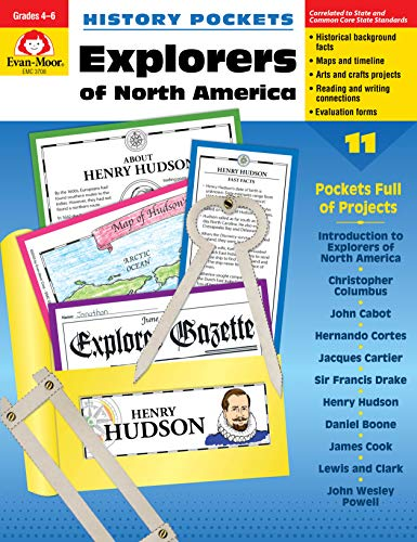 History Pockets: Explorers of North America, Grades 4-6+
