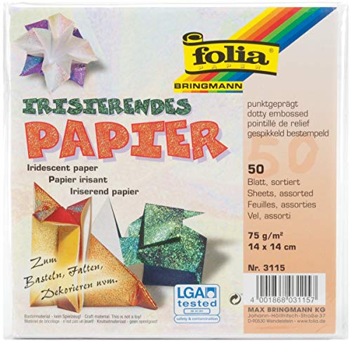 Global Art 3115 Folia Embossed Origami Paper 5-1/2-Inch-by-5-1/2-Inch Dot Pattern 50 Sheets 5.5
