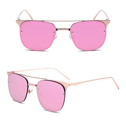 Z&HA Las Mujeres Gafas De Sol Transparentes Lentes De Color ...