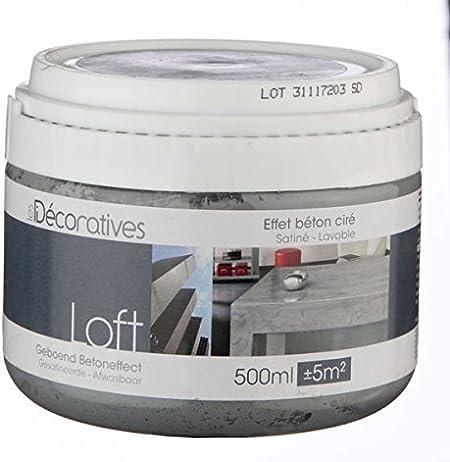Peinture Loft Meuble Effet Beton Cire 500ml Les Decoratives Loft Meuble Rio Amazon Fr Bricolage