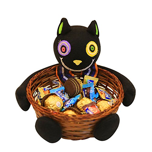 Halloween Candy Basket,Ghost Pumpkin Head Doll Decoration Bowl for Biscuit Fruit (Caramelle Di Halloween)