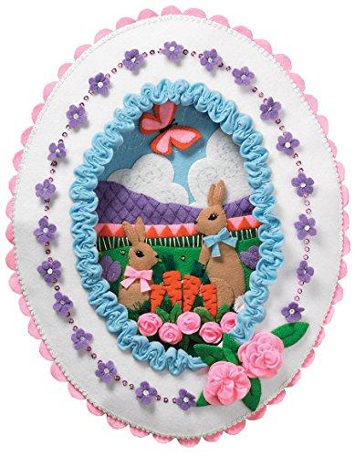 Bucilla Felt Applique Wall Hanging Kit, 86727 Sugared Easter (Applique Kit)