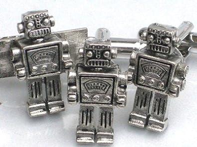 Steampunk Gemelos de Señor Robot Retro de corbata Geekery: Amazon ...