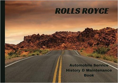 rolls royce automobile service history maintenance book vehicle