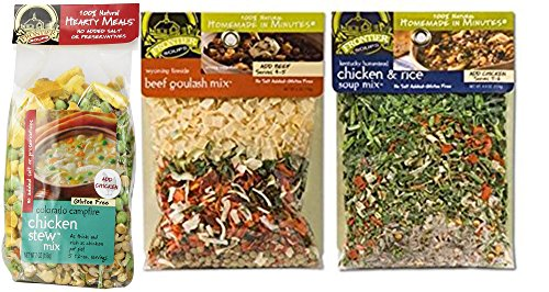 (Frontier Soups Homemade In Minutes Bundle: Hearty Colorado Campfire Chicken Stew Mix 7 Oz, Wyoming Fireside Beef Goulash Mix 6 oz, Kentucky Homestead Chicken and Rice Soup Mix 4.25 oz)