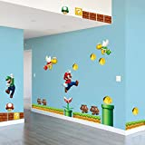 Rousmery 2015 Best selling Super Mario Games Scene Children's Rooms,Bedroom Removable And Waterproof Wall Sticker Quote Wall Decal Art Decor