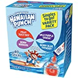 Hawaiian Punch Singles To Go Powder Sticks, Variety Pack, 40 Count Servings (160 Total Servings)