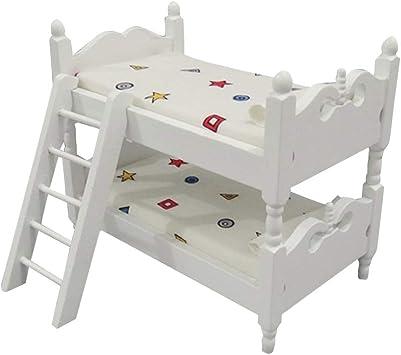 Letti A Mini Castello.Toyvian Mini Letto A Castello In Legno Per Bambini Simulazione