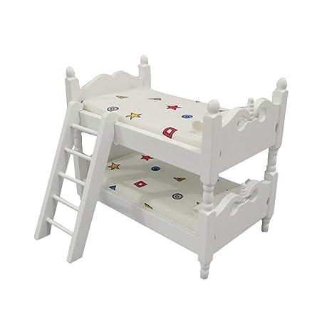 Mini Letti A Castello.Toyvian Mini Letto A Castello In Legno Per Bambini Simulazione Casa
