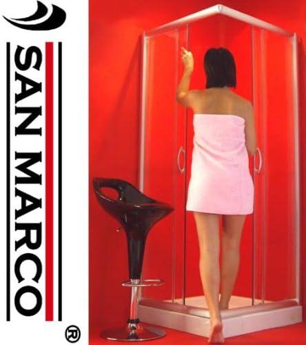 sms San Marco-1001-Mampara de baño 90 x 90 mm, cristal ...