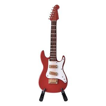 Réplica de guitarra eléctrica en miniatura con mini instrumento musical, en caja de regalo de