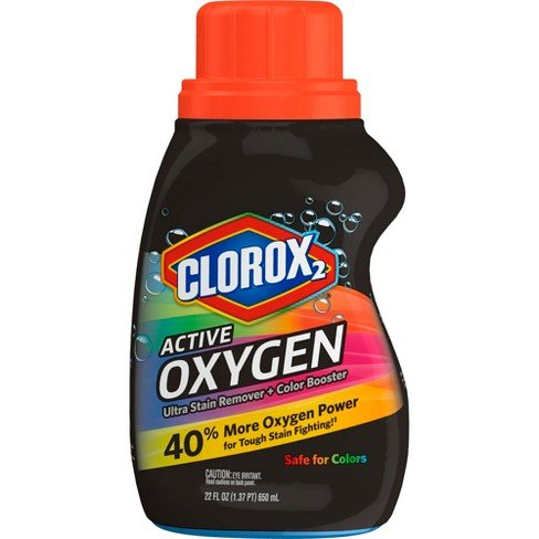 Clorox2 Active Oxygen Ultra Stain Remover + Color Booster, 22 fl oz (Pack of 2)