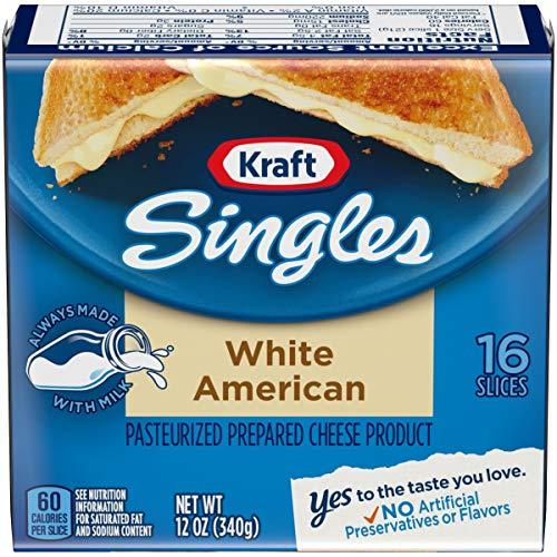 Kraft Singles Cheese Slices, White American Cheese, 16 ct - 12.0 oz ()
