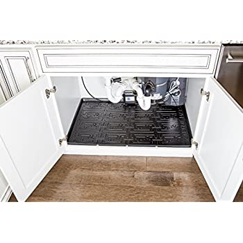 under kitchen sink cabinet liner xtreme mats sink kitchen cabinet mat 27585