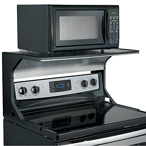 Microwave Oven Shelf Bracket - Black (Above Counter Microwave compare prices)