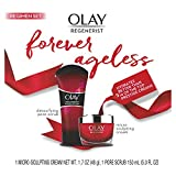 Olay Regenerist Advanced Anti-Aging Pore Scrub Cleanser (5.0 Oz) and Micro-Sculpting Face Moisturizer Cream (1.7 Oz) Skin Care Duo Pack, Total 6.7 Ounces Packaging may Vary