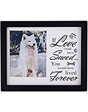 """PETCEE Dog Memorial Picture Frame,Pet Picture Frame for Loss of Dog Remembrance Gifts in Memory of Dog Pet Loss Sympathy Gift Loss of Dog Picture Frame 4""""X6"""""""