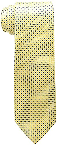 Tommy Hilfiger Men's Core Micro Tie, Yellow, One Size (Neckwear Ties Silk)