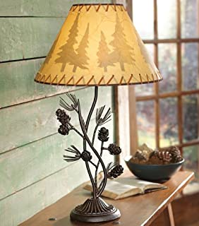 Pacific Coast Lighting Pine Cone Glow Table Lamp In Etruscan Gold