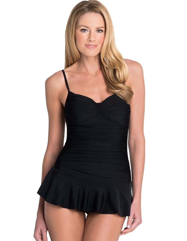 seaspray just black abnehmbare soft k rbchen kontroll badeanzug mit rock in schwarz 30 2149. Black Bedroom Furniture Sets. Home Design Ideas