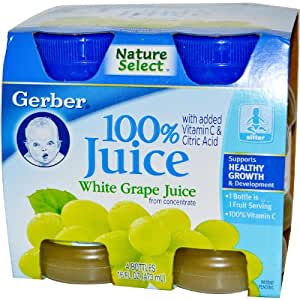Gerber 100% White Grape Juice - 4 CT