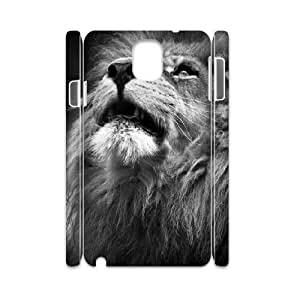 3D Nuktoe Majestic Lion Portrait Case for Samsung Galaxy Note 3 Shock Absorbent, Samsung Galaxy Note3 Cases for Women for Women Protective with White